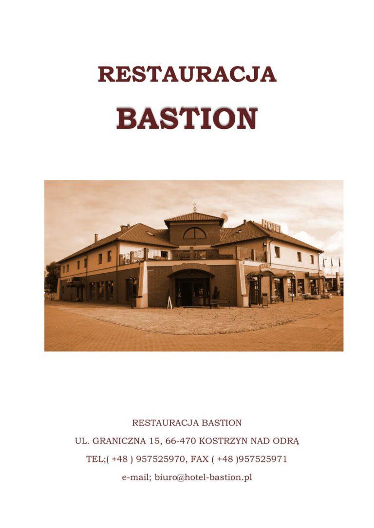 menu 1 restauracja bastion