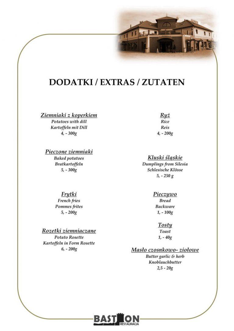 dodatki menu